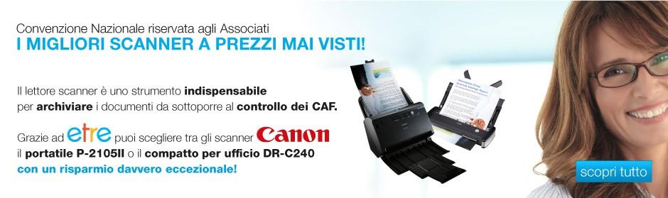 Convenzione Scanner Canon Etre CAF TFdC
