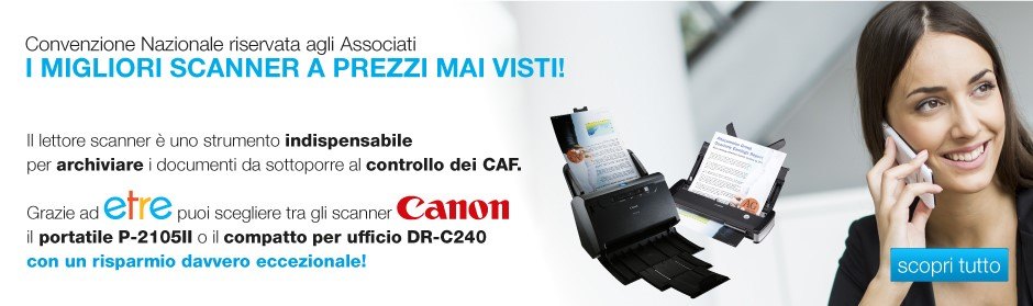 Convenzione Scanner Canon Etre CAF TFdC m
